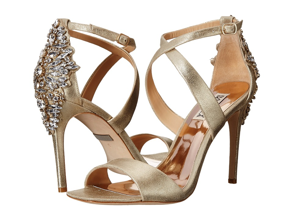 Badgley Mischka - Cadence II (Platino Metallic Suede) High Heels