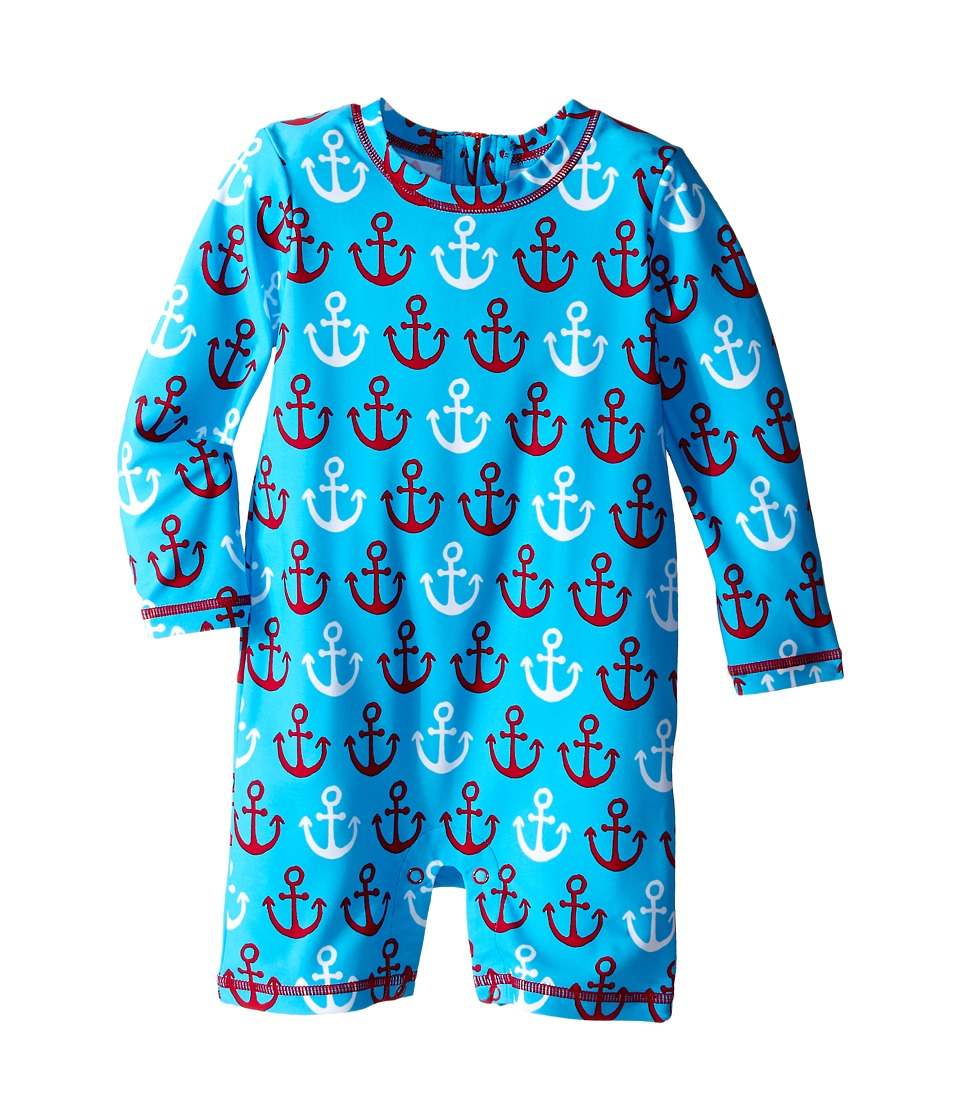 Hatley Kids - Nautical Anchors Rashguard (Infant) (Blue) Boy's Swimwear
