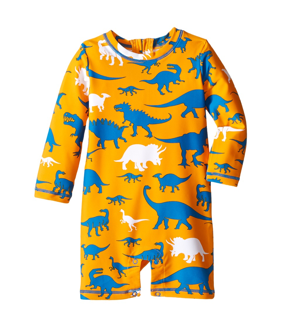Hatley Kids - Silhouette Dinos Rashguard (Infant) (Orange) Boy's Swimwear