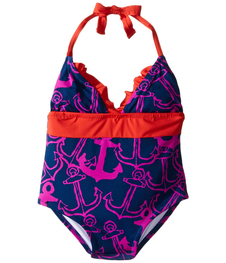 Hatley Kids - Anchors One-Piece Swimsuit (Toddler/Little Kids/Big Kids) (Purple) Girl's Swimsuits One Piece
