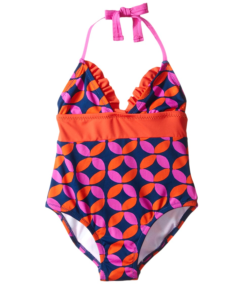 Hatley Kids - Graphic Lifesavers One-Piece Swimsuit (Toddler/Little Kids/Big Kids) (Blue) Girl's Swimsuits One Piece