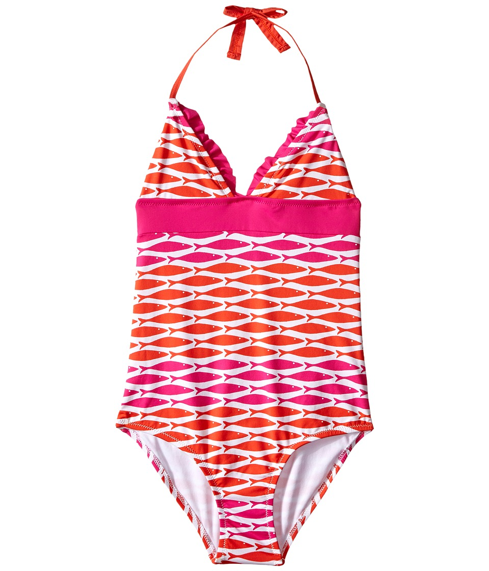 Hatley Kids - Little Fishes One-Piece Swimsuit (Toddler/Little Kids/Big Kids) (Pink) Girl's Swimsuits One Piece