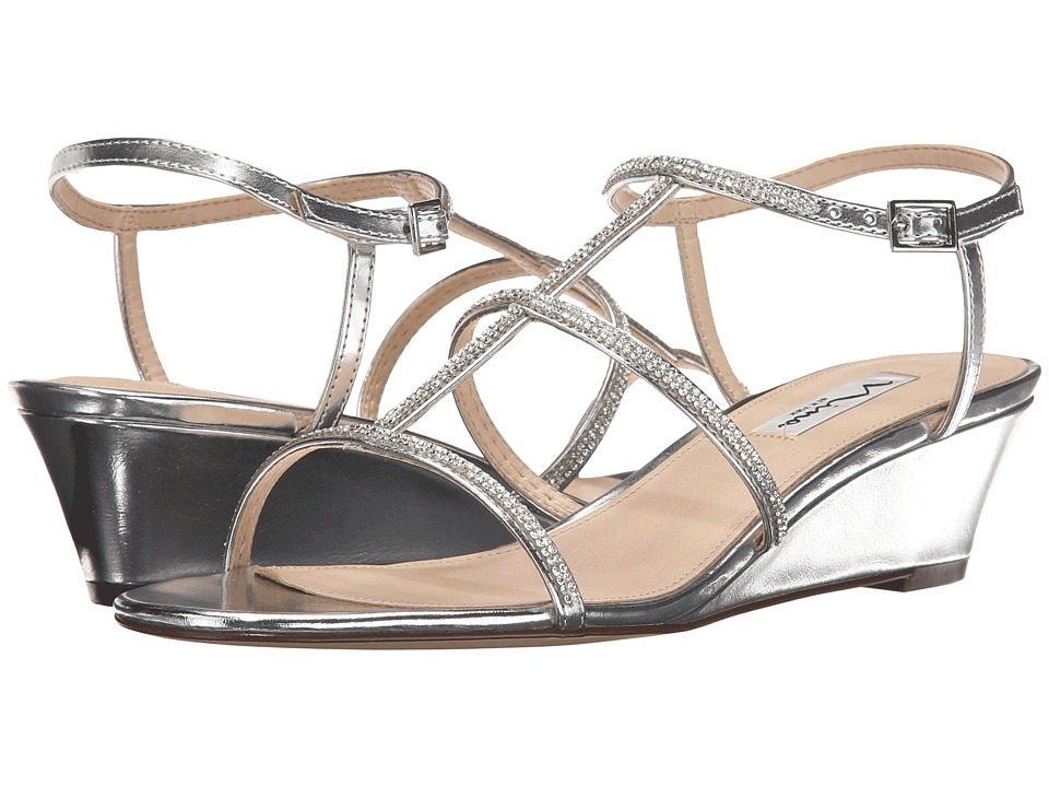 Nina - Floria (Silver) Women's Wedge Shoes