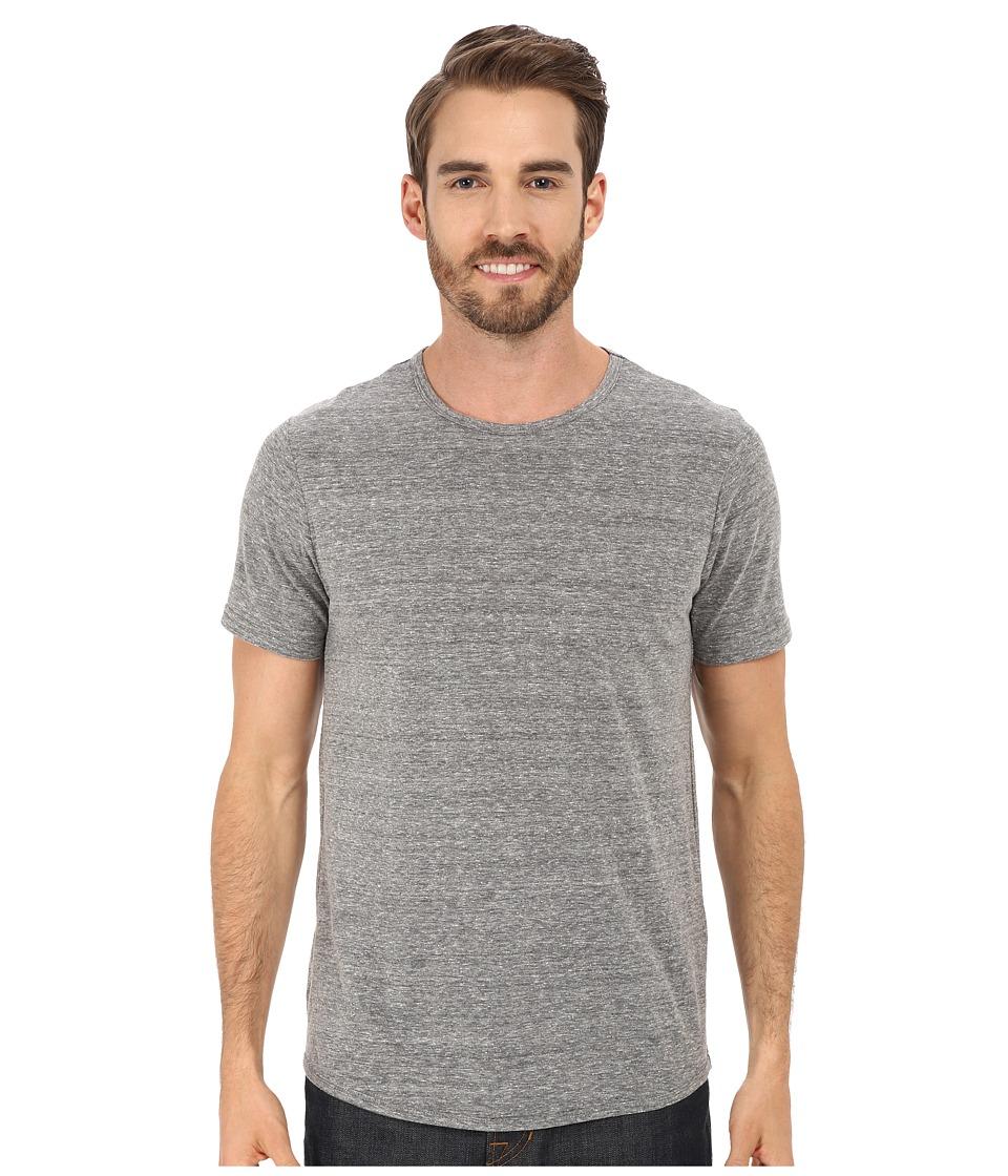 Kenneth Cole Sportswear - Nep Textured Crew (Heather Grey) Men's Short Sleeve Pullover