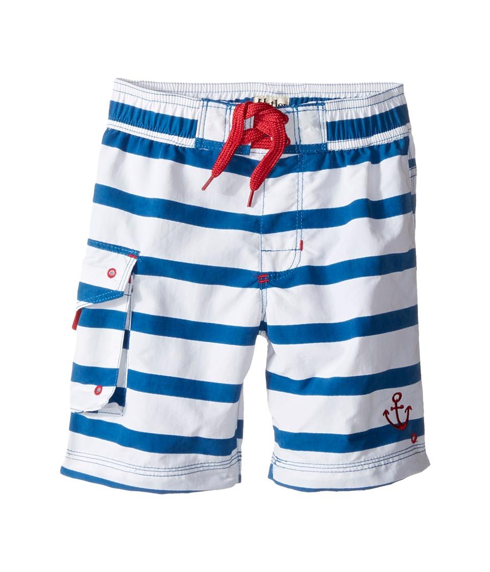 Hatley Kids - Nautical Stripes Boardshorts (Toddler/Little Kids/Big Kids) (Blue) Boy's Swimwear