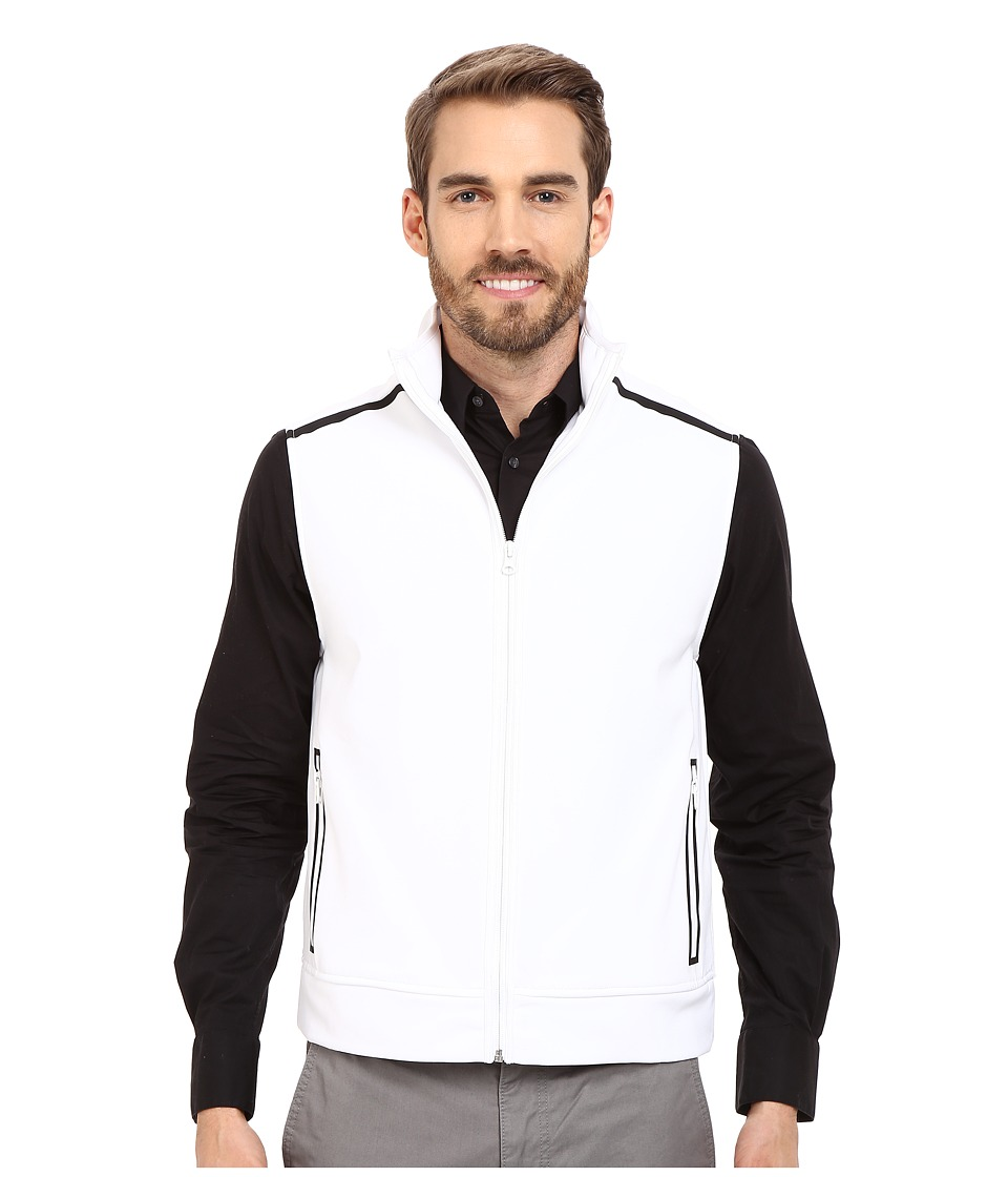Kenneth Cole Sportswear - Contrast Zip-Front Vest (White) Men's Vest