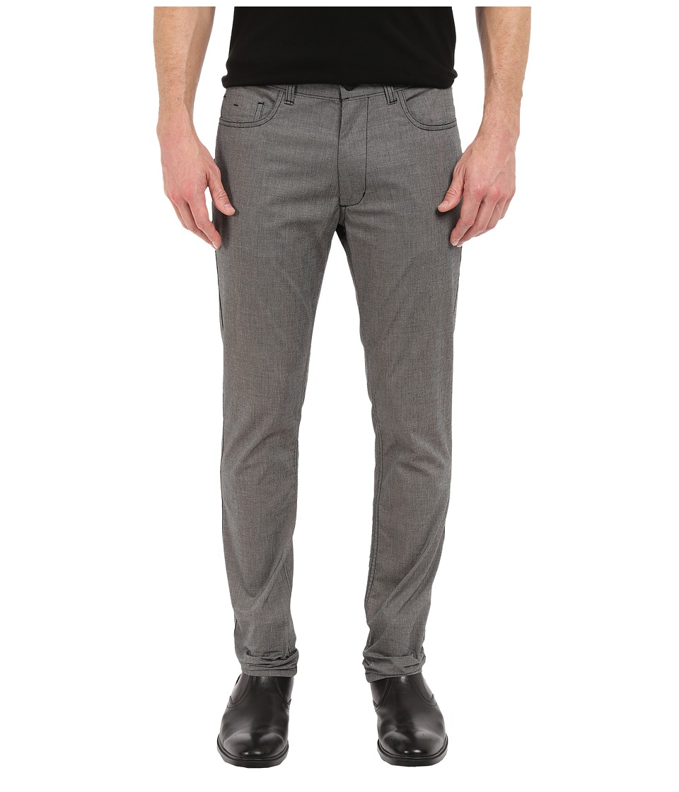 Kenneth Cole Sportswear - Slim Five-Pocket Pants (Black Combo) Men's Casual Pants