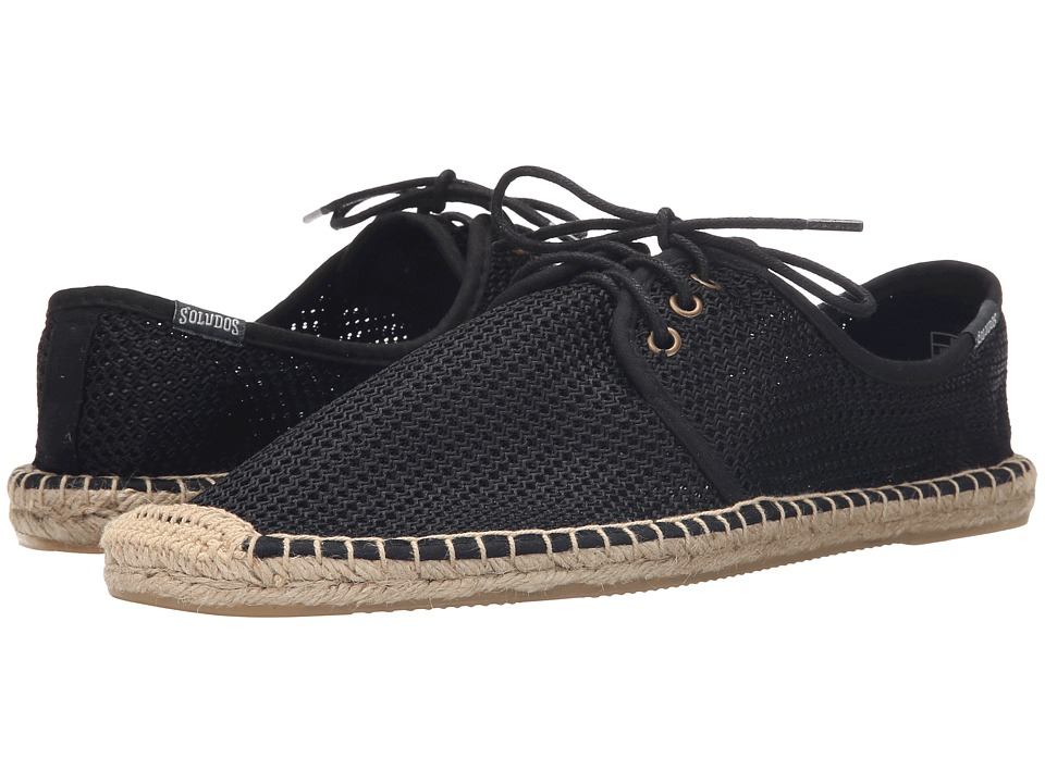 Soludos - Derby Lace-Up Mesh (Mesh Black) Men's Lace up casual Shoes