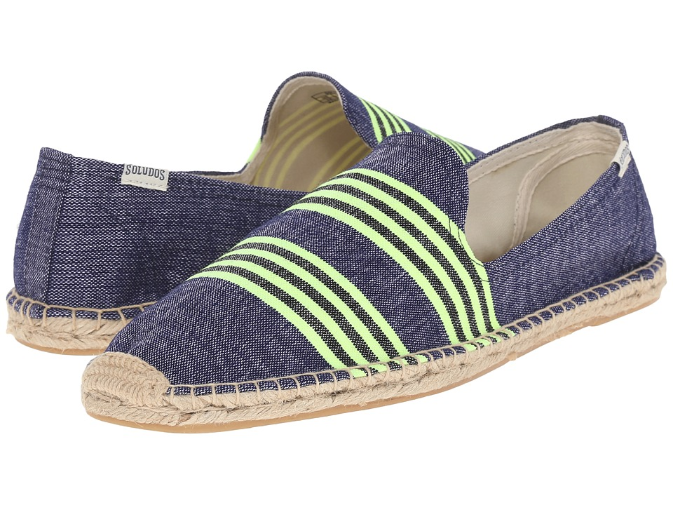 Soludos - Lem Lem X S Oludos Collaboration (Alem Navy/Neon Yellow) Men's Shoes