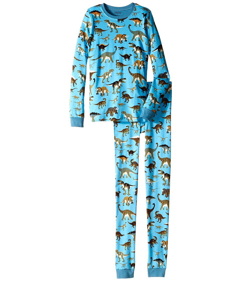 Hatley Kids - Wild Dinos PJ Set (Toddler/Little Kids/Big Kids) (Blue) Boy's Pajama Sets