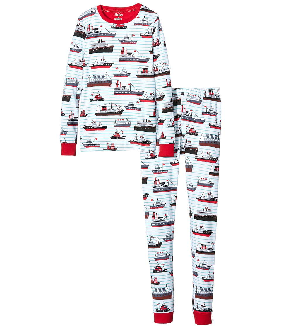 Hatley Kids - Ocean Liner PJ Set (Toddler/Little Kids/Big Kids) (White) Boy's Pajama Sets
