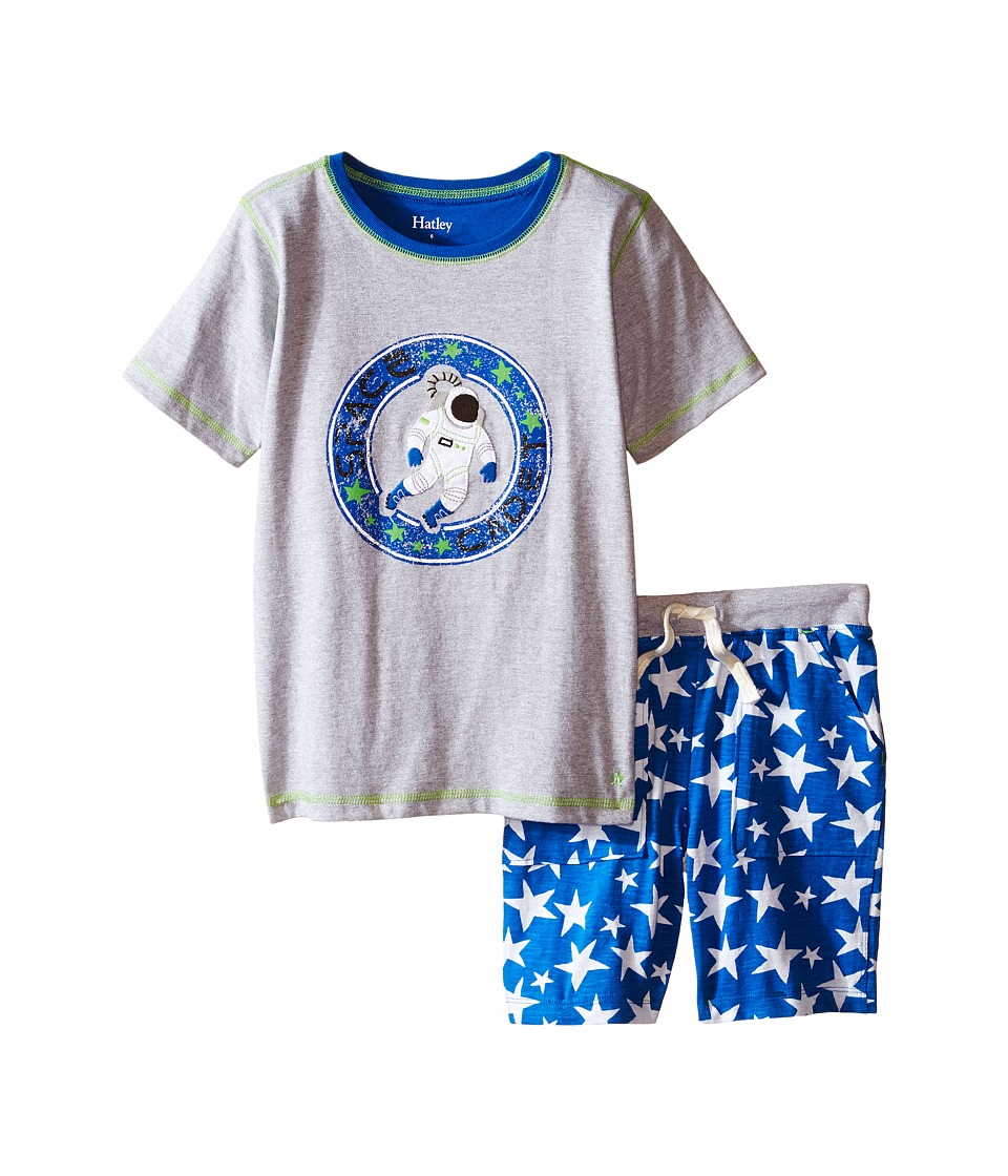 Hatley Kids - Astronauts In Space Tee Shorts Set (Toddler/Little Kids/Big Kids) (Grey) Boy's Pajama Sets
