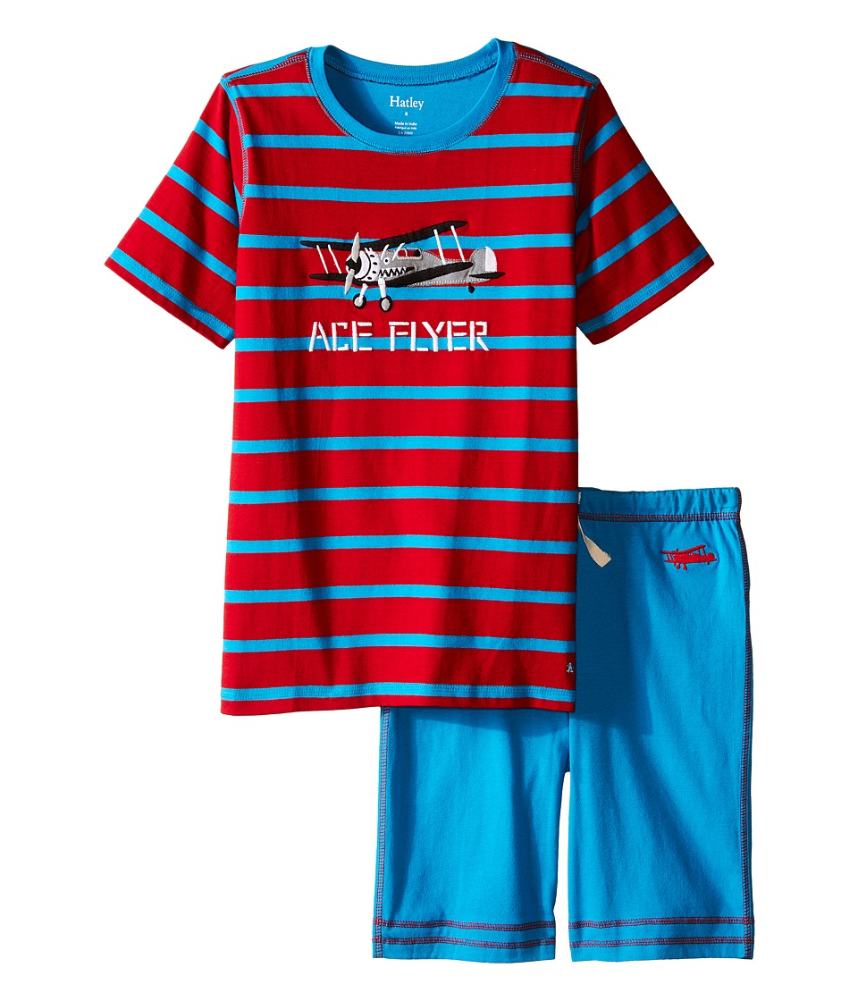 Hatley Kids - Fighter Planes Tee Shorts Set (Toddler/Little Kids/Big Kids) (Red) Boy's Pajama Sets