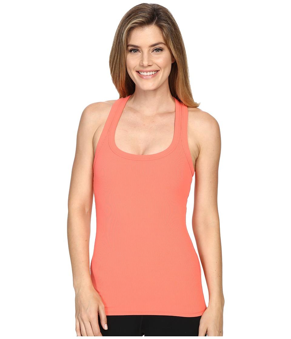 ALO - Rib Support Tank Top (Guava) Women's Sleeveless