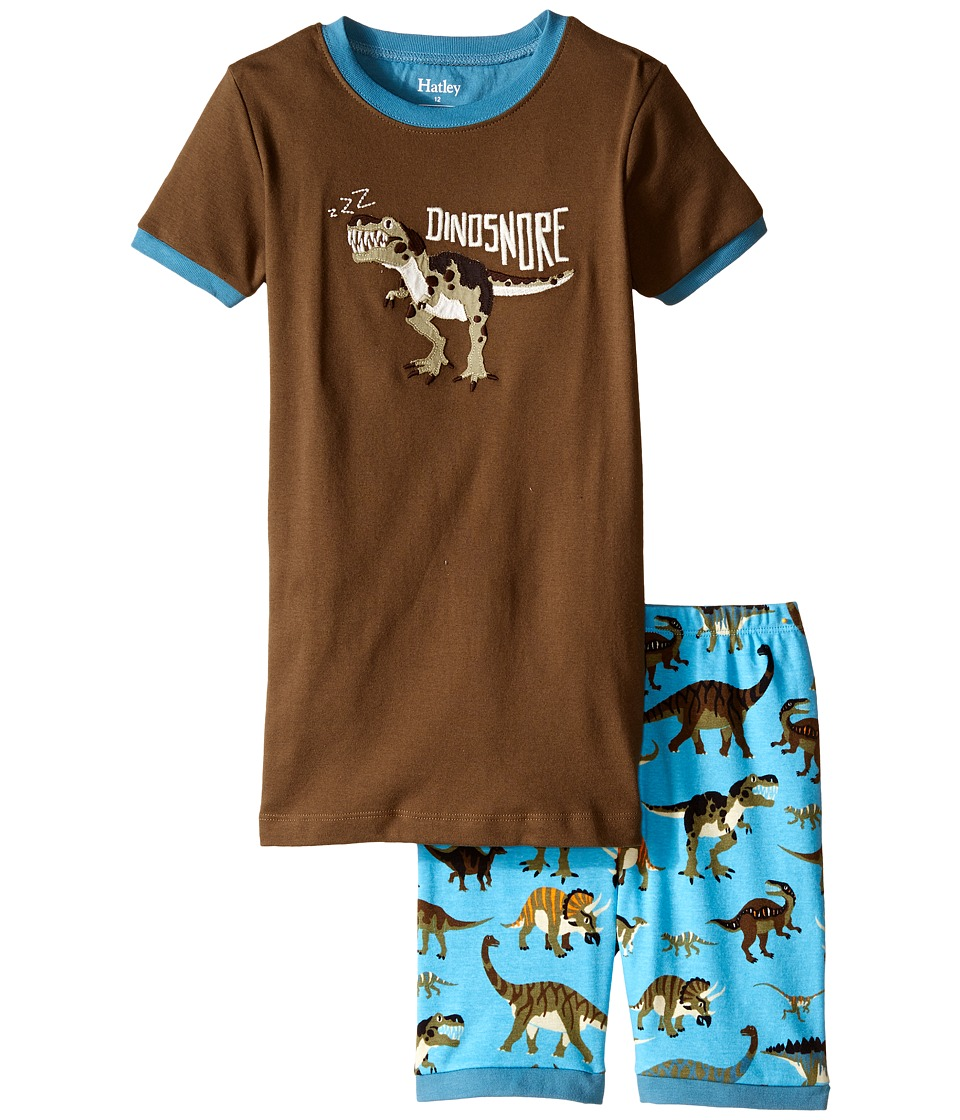 Hatley Kids - Wild Dinos Short PJ Set (Toddler/Little Kids/Big Kids) (Brown) Boy's Pajama Sets