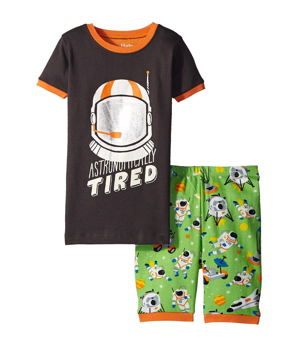 Hatley Kids - Astronauts Short PJ Set (Toddler/Little Kids/Big Kids) (Green) Boy's Pajama Sets