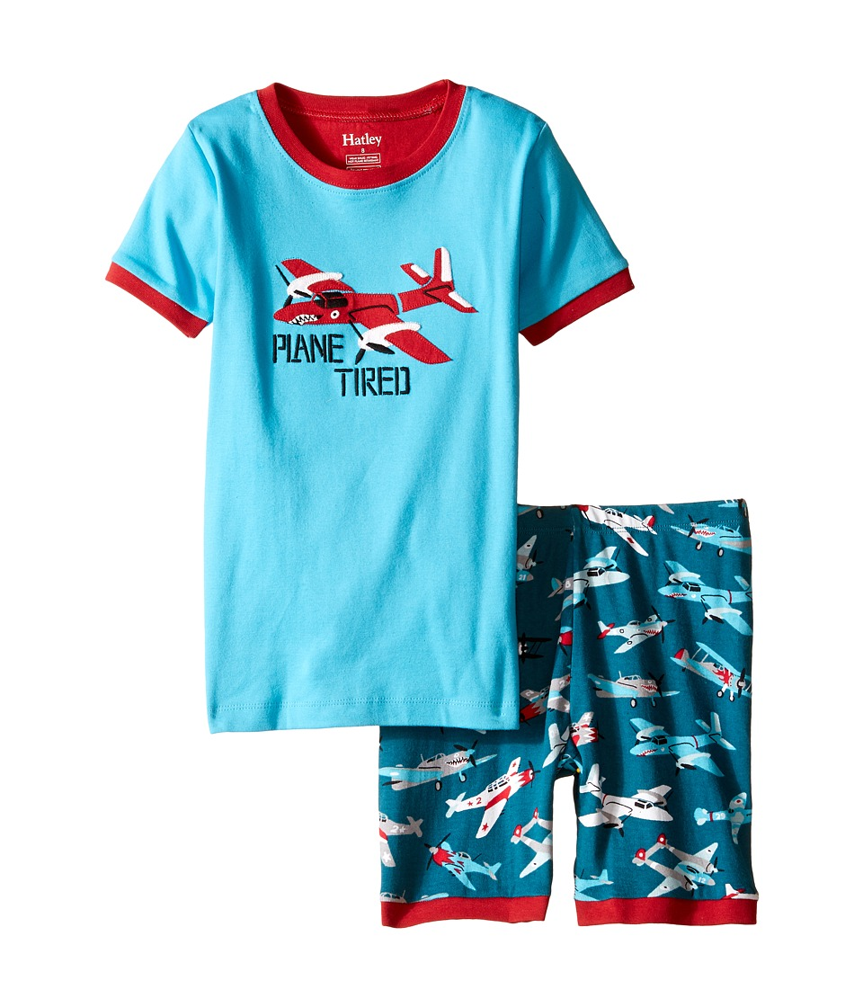 Hatley Kids - Fighter Planes Short PJ Set (Toddler/Little Kids/Big Kids) (Blue) Boy's Pajama Sets