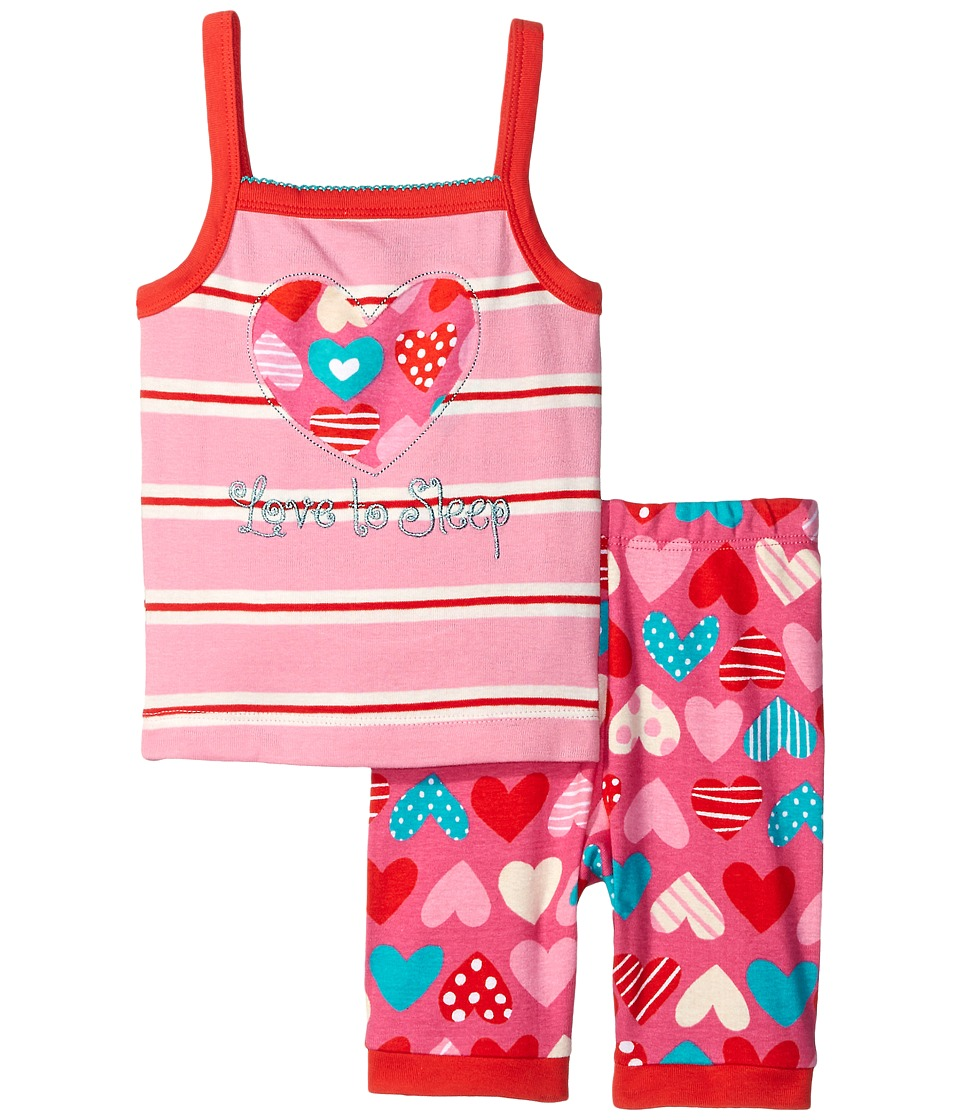 Hatley Kids - Crazy Hearts Tank PJ Set (Toddler/Little Kids/Big Kids) (Pink) Girl's Pajama Sets