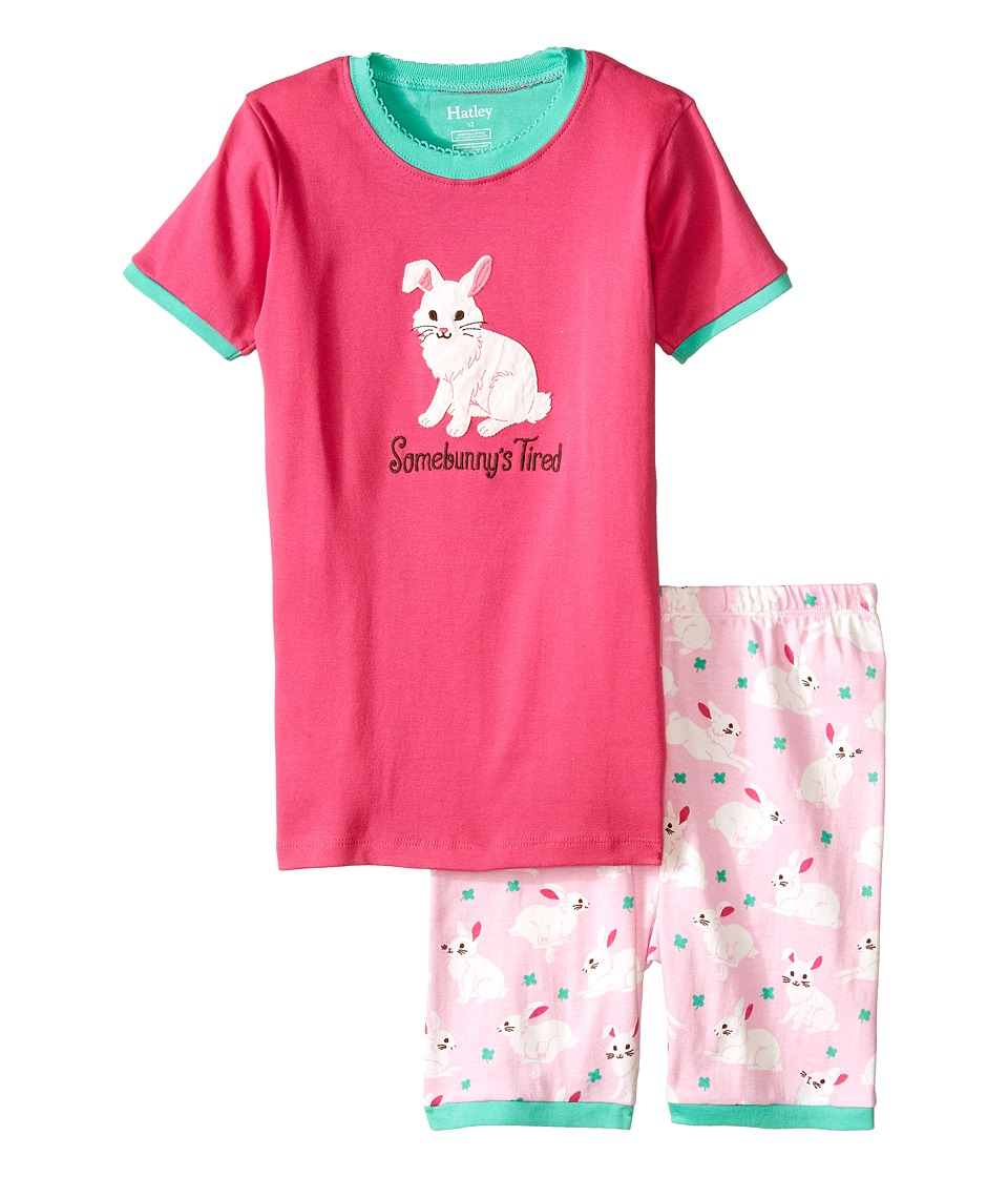 Hatley Kids - Spring Bunnies Short PJ Set (Toddler/Little Kids/Big Kids) (Pink) Girl's Pajama Sets
