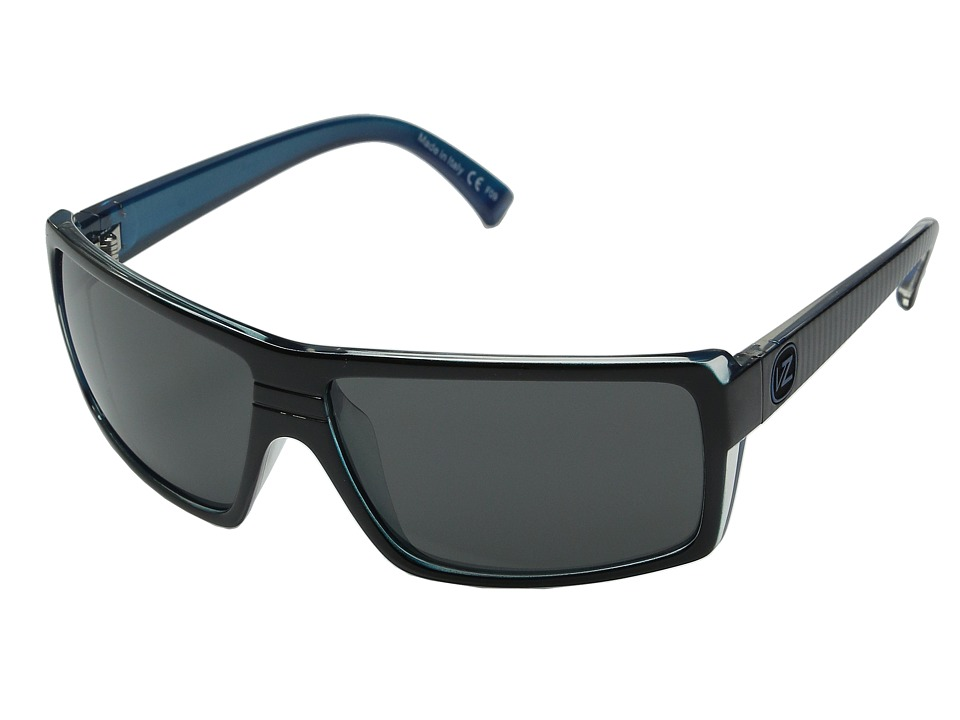 VonZipper - Snark (Sport Lux Blue Metallic/Grey) Plastic Frame Sport Sunglasses