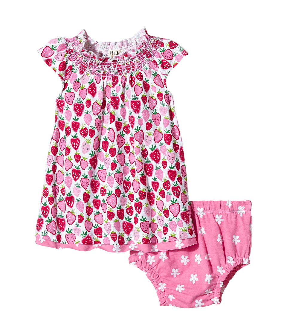 Hatley Kids - Strawberry Sundae Flutter Sleeve Dress Underwear (Infant) (White) Girl's Pajama Sets