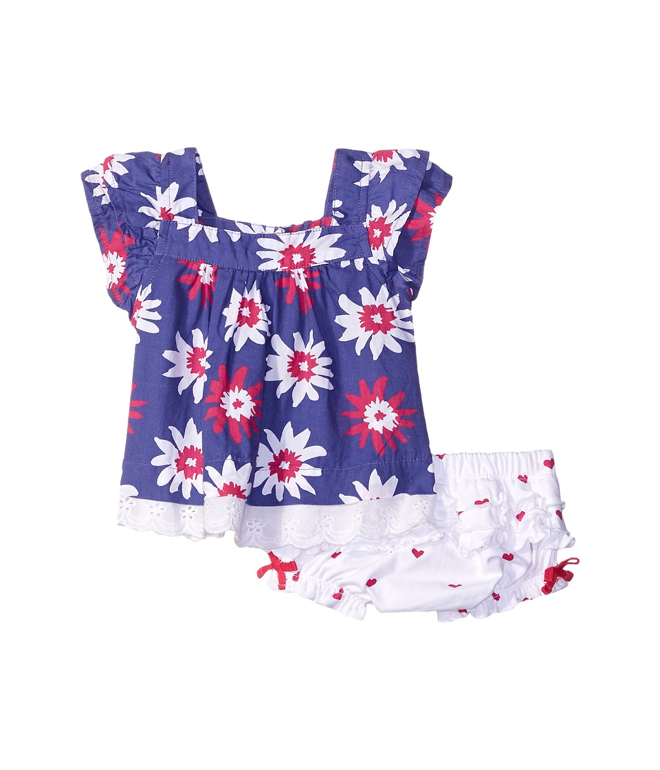 Hatley Kids - Summer Garden Flutter Tunic Ruffle Bloomer Set (Infant) (Blue) Girl's Pajama Sets