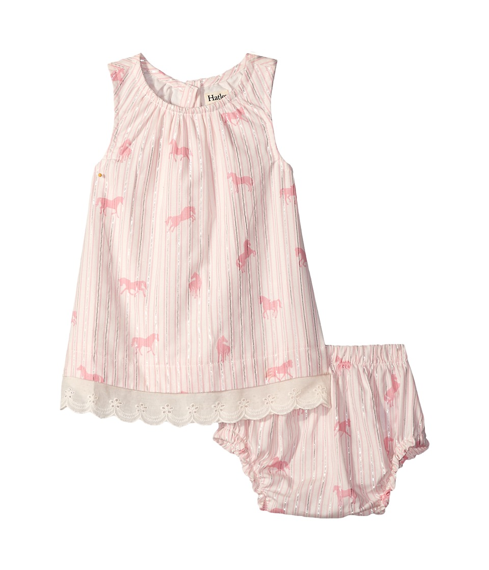 Hatley Kids - Flower Horses Lace Dress Bloomer Set (Infant) (Pink) Girl's Pajama Sets