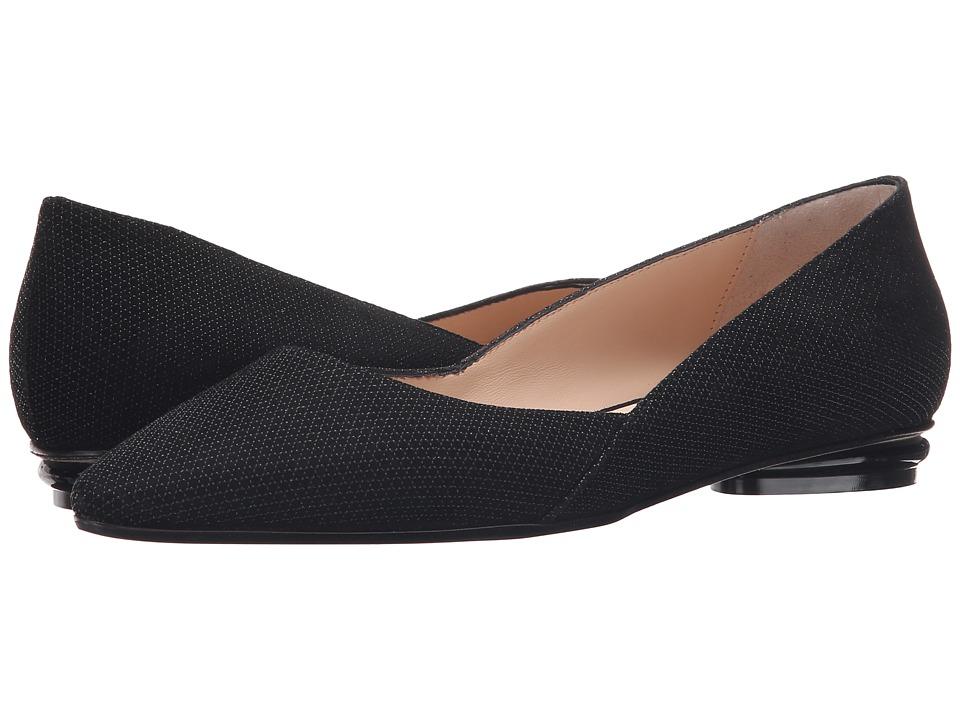 Aquatalia - Kate (Black Diamond Suede) Women's Dress Flat Shoes