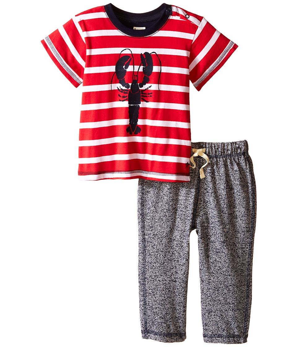 Hatley Kids - Lobsters Tee Track Pants Set (Infant) (Red) Boy's Pajama Sets