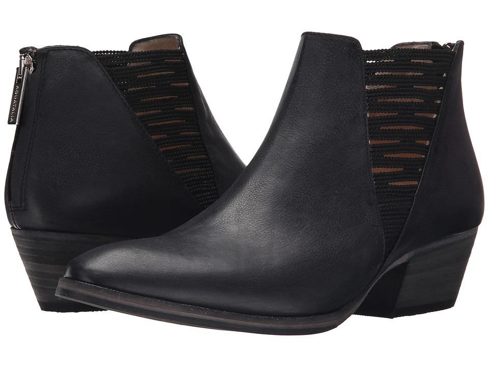 Aquatalia - Farrah (Black Sport calf/Elastic) Women's Zip Boots