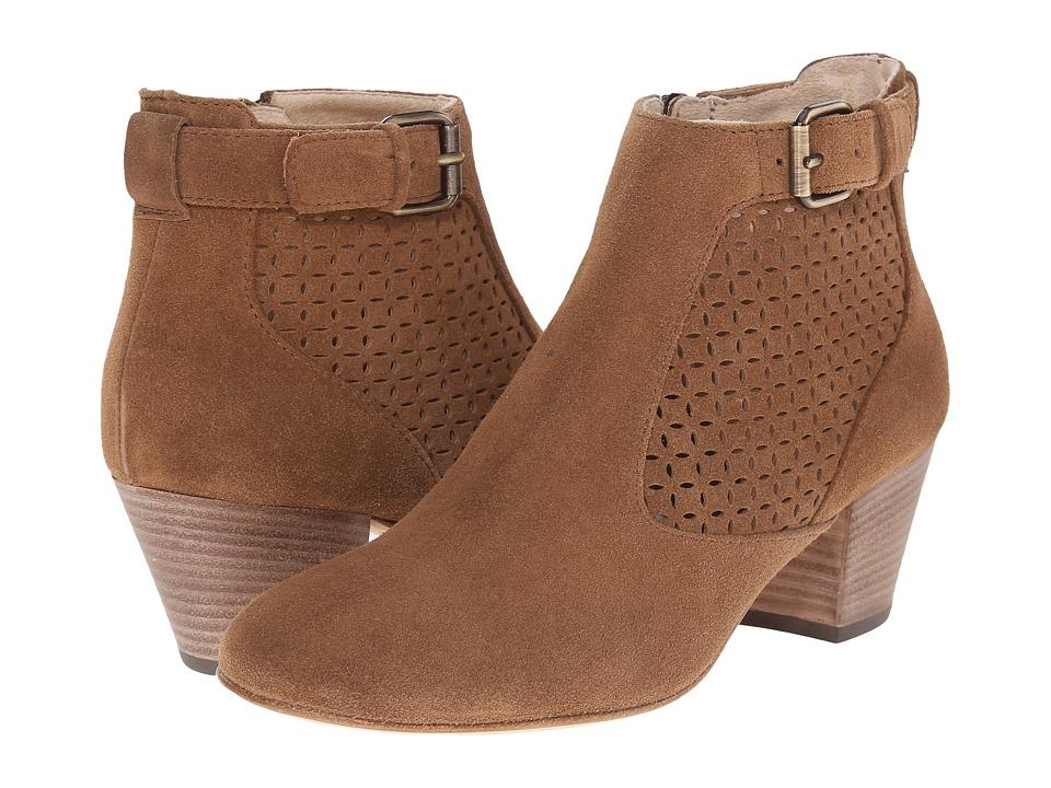 Aquatalia - Francie (Bark Suede) Women's Zip Boots