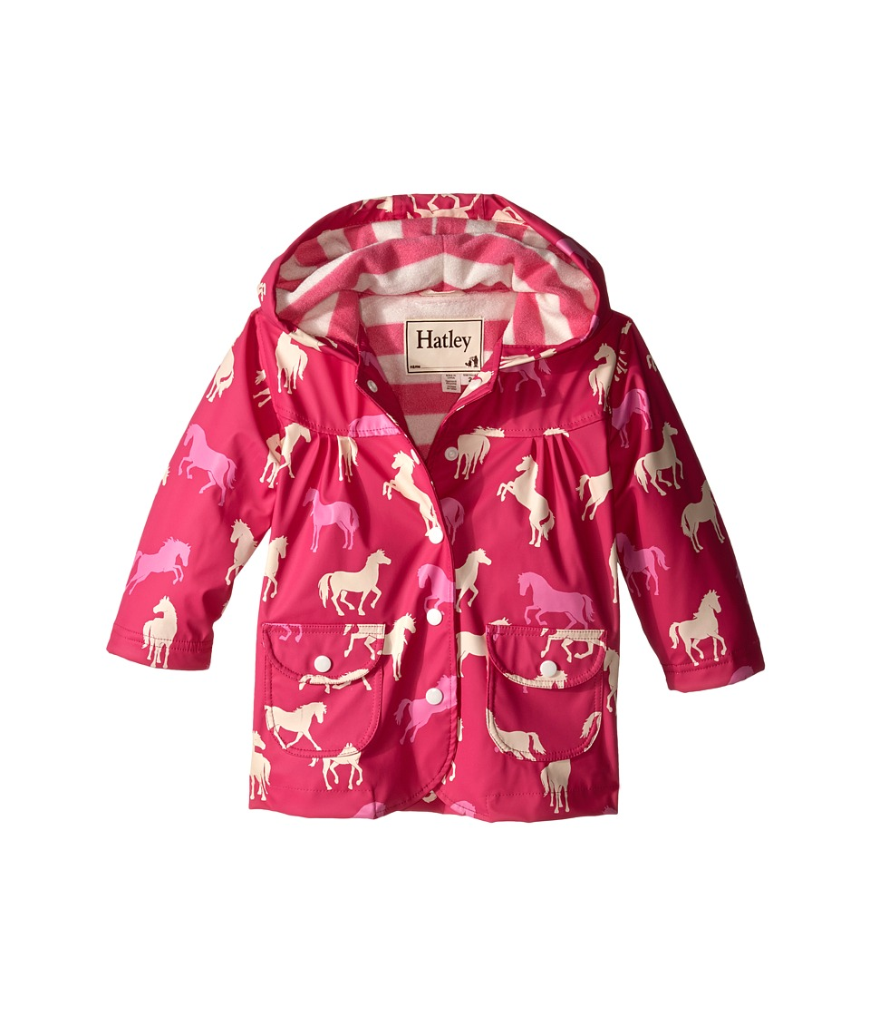 Hatley Kids - Classic Horses Raincoat (Toddler/Little Kids/Big Kids) (Pink) Girl's Coat