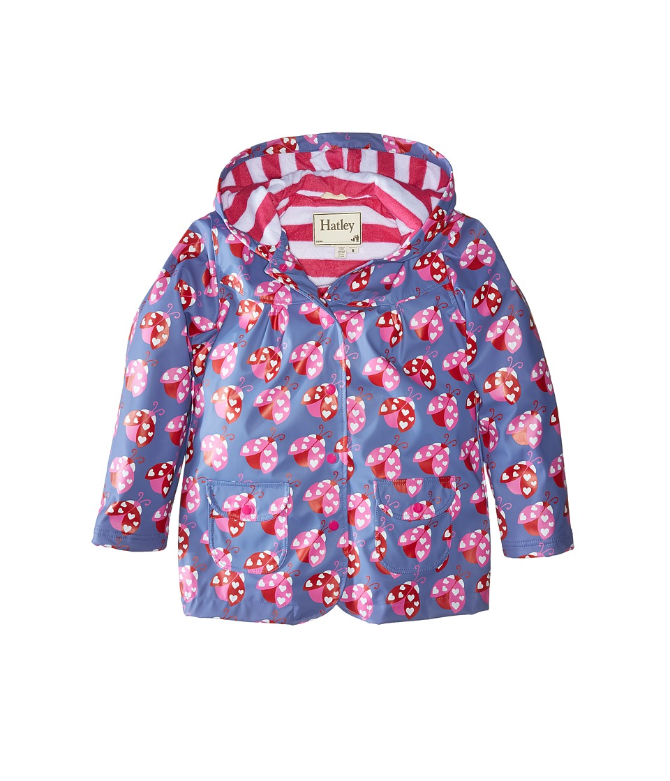 Hatley Kids - Lady Bug Garden Raincoat (Toddler/Little Kids/Big Kids) (Blue) Girl's Coat