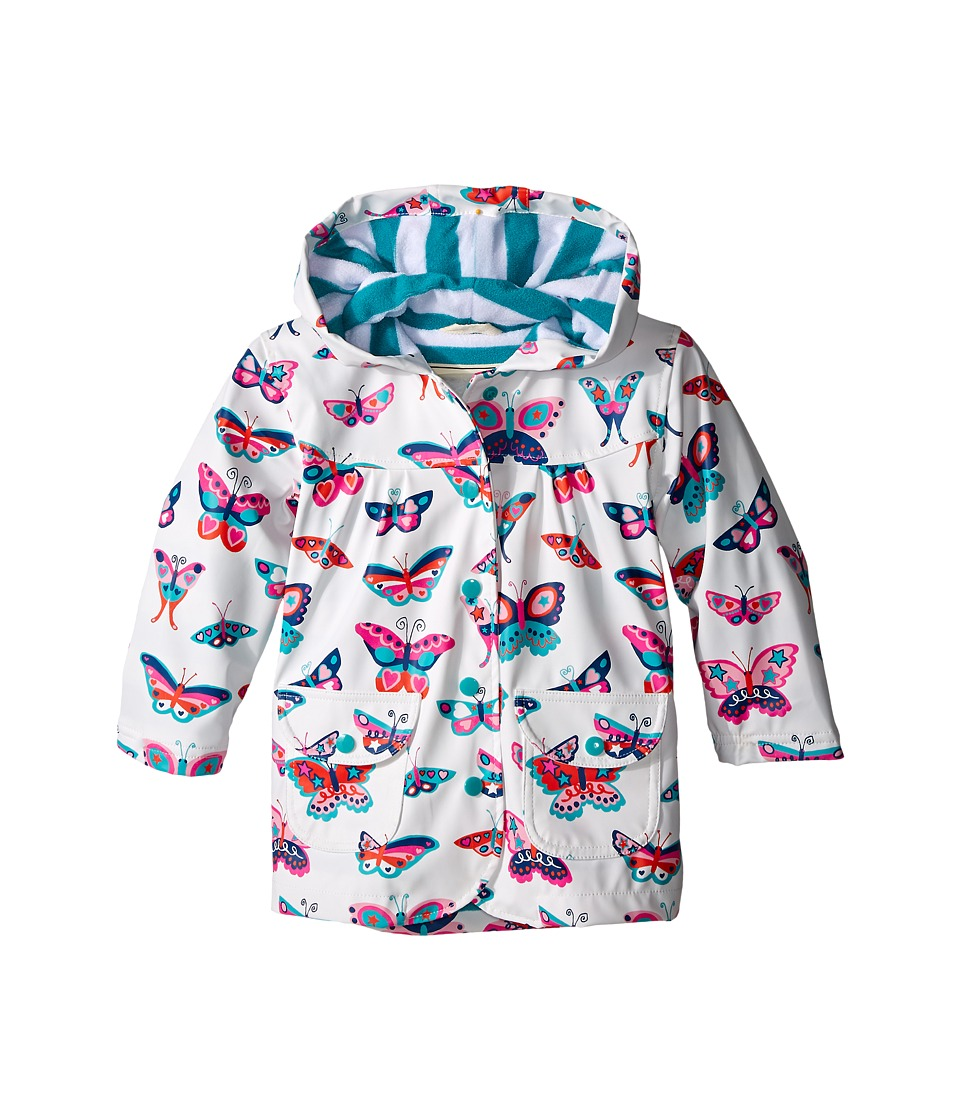 Hatley Kids - Electric Butterflies Raincoat (Toddler/Little Kids/Big Kids) (White) Girl's Coat