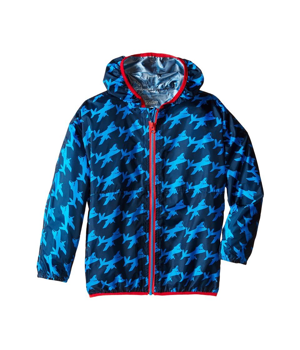 Hatley Kids - Fighter Planes Wind Breakers (Toddler/Little Kids/Big Kids) (Blue) Boy's Coat