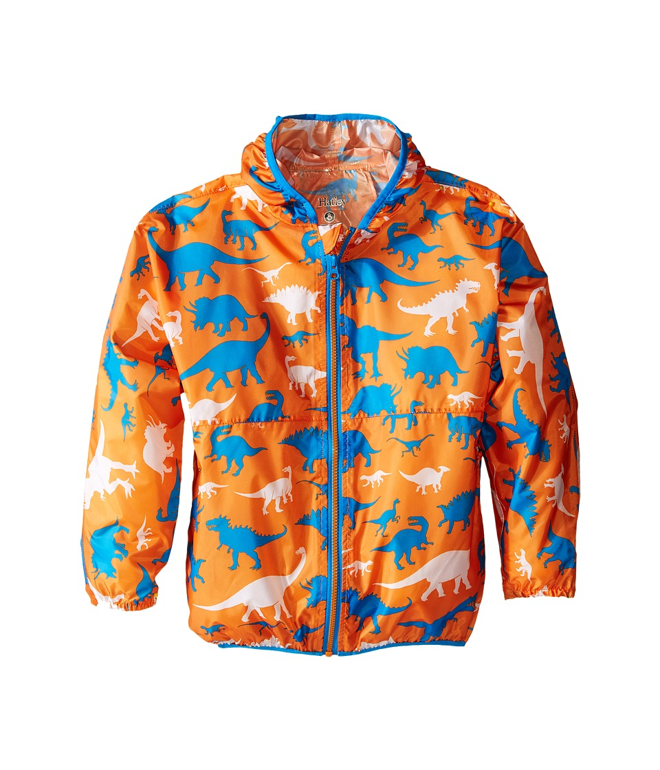 Hatley Kids - Wild Dinos Wind Breakers (Toddler/Little Kids/Big Kids) (Orange) Boy's Coat