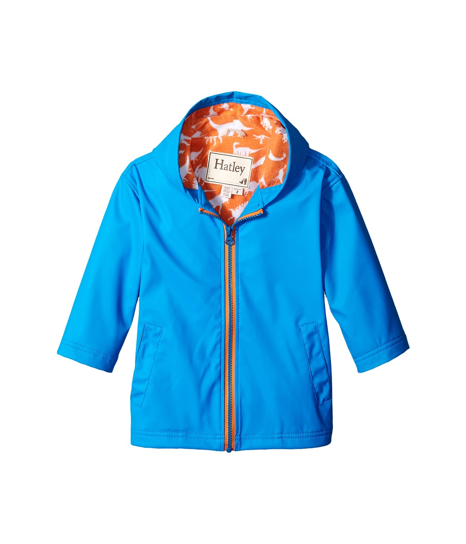 Hatley Kids - Royal Orange Wild Dinos Splash Jacket (Toddler/Little Kids/Big Kids) (Blue) Boy's Coat