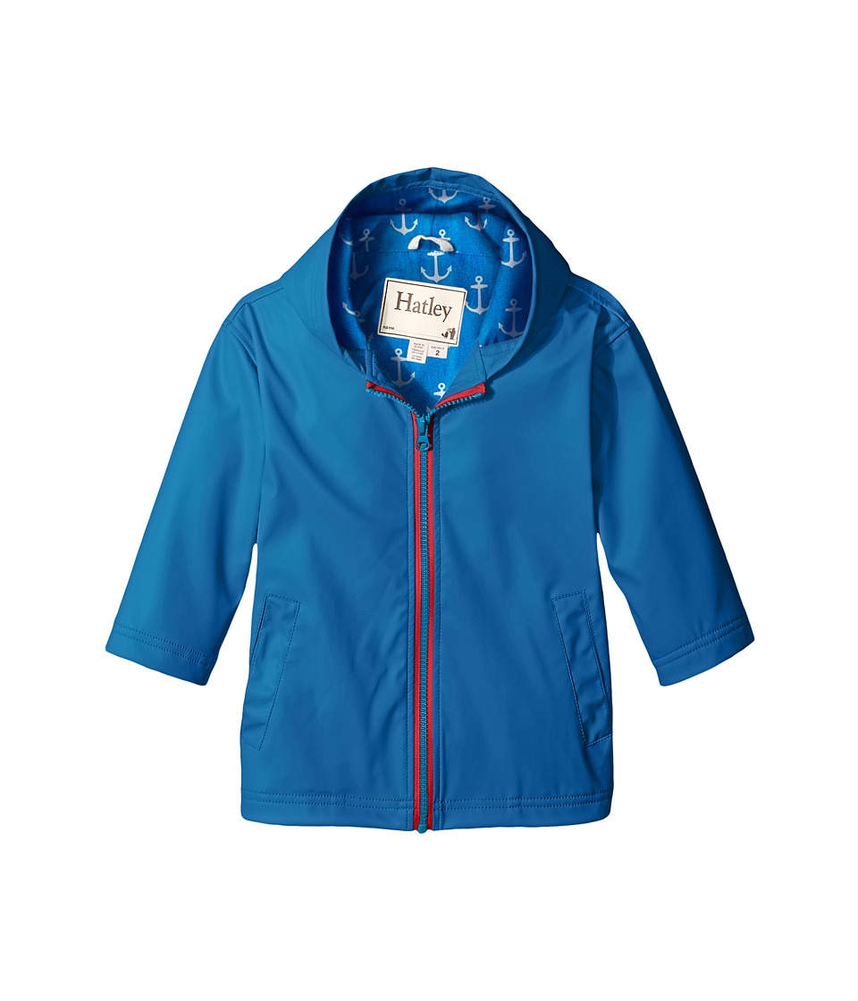 Hatley Kids - Navy Royal Anchors Splash Jacket (Toddler/Little Kids/Big Kids) (Blue) Boy's Coat