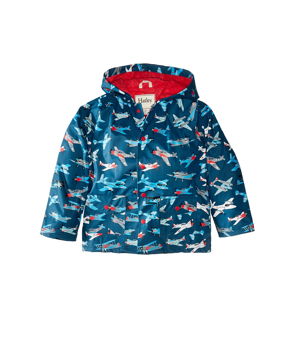 Hatley Kids - Fighter Planes Raincoat (Toddler/Little Kids/Big Kids) (Blue) Boy's Coat