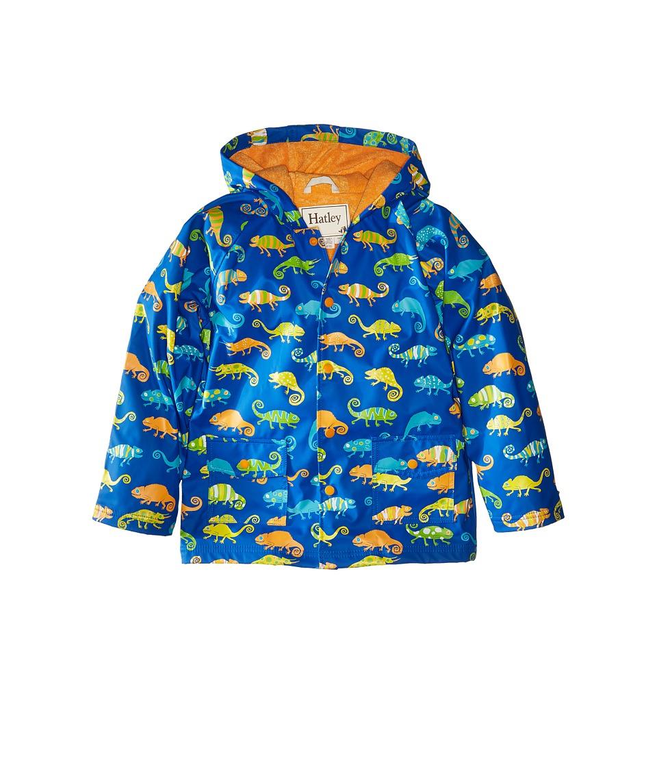 Hatley Kids - Crazy Chameleons Raincoat (Toddler/Little Kids/Big Kids) (Blue) Boy's Coat