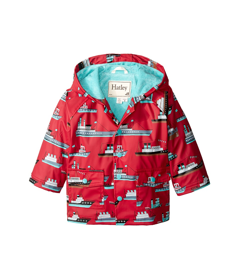 Hatley Kids - Ocean Liner Raincoat (Toddler/Little Kids/Big Kids) (Red) Boy's Coat