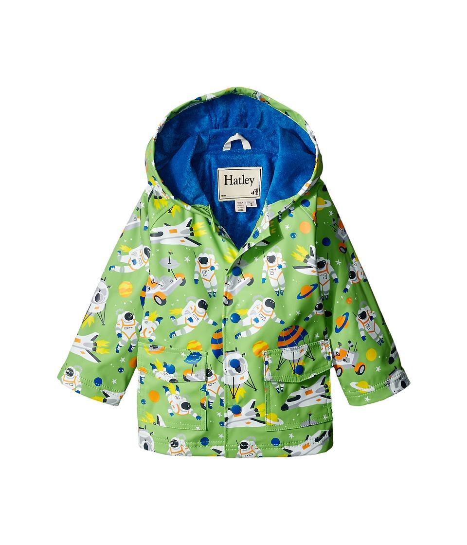 Hatley Kids - Astronauts Raincoat (Toddler/Little Kids/Big Kids) (Green) Boy's Coat
