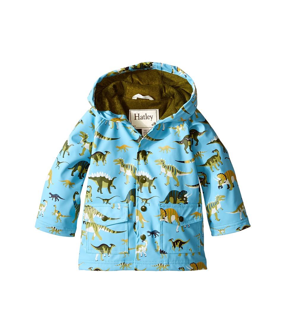 Hatley Kids - Wild Dinos Raincoat (Toddler/Little Kids/Big Kids) (Blue) Boy's Coat