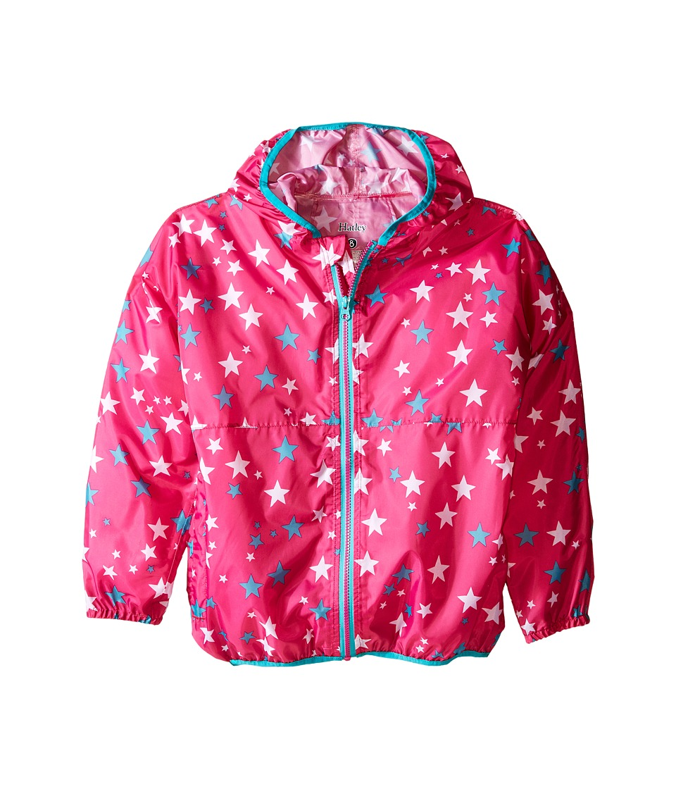 Hatley Kids - Fuchsia Stars Wind Breakers (Toddler/Little Kids/Big Kids) (Pink) Girl's Coat