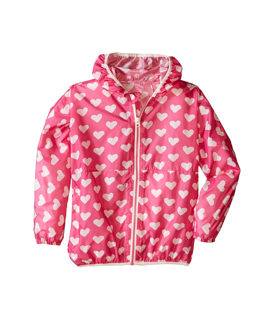 Hatley Kids - Pink Hearts Wind Breakers (Toddler/Little Kids/Big Kids) (Pink) Girl's Coat