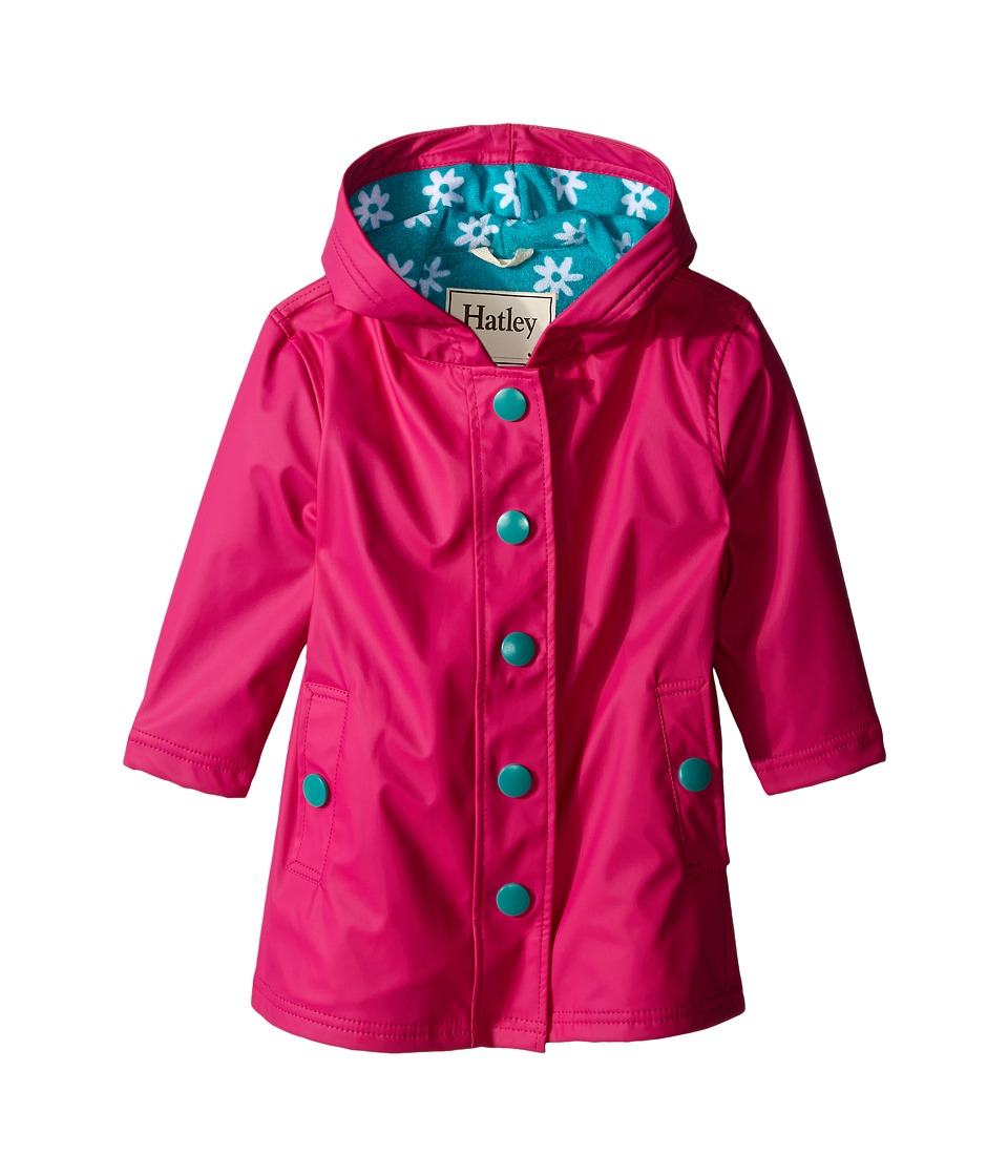 Hatley Kids - Fuchsia Turquoise Daisies Splash Jacket (Toddler/Little Kids/Big Kids) (Pink) Girl's Coat