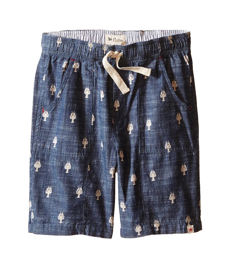 Hatley Kids - Nautical Lobsters Patch Pocket Shorts (Toddler/Little Kids/Big Kids) (Blue) Boy's Shorts