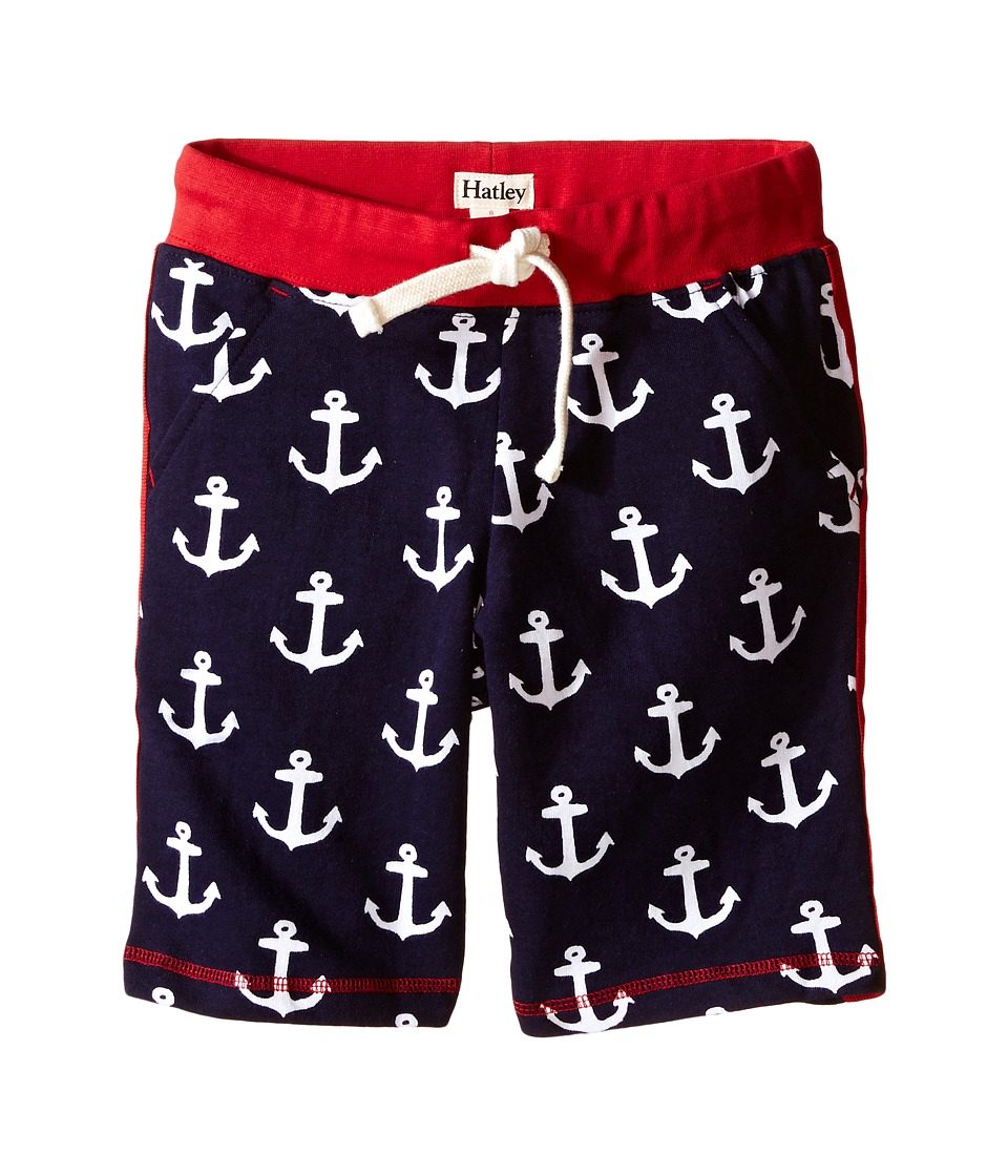 Hatley Kids - Retro Nautical Side Stripe Shorts (Toddler/Little Kids/Big Kids) (Blue) Boy's Shorts