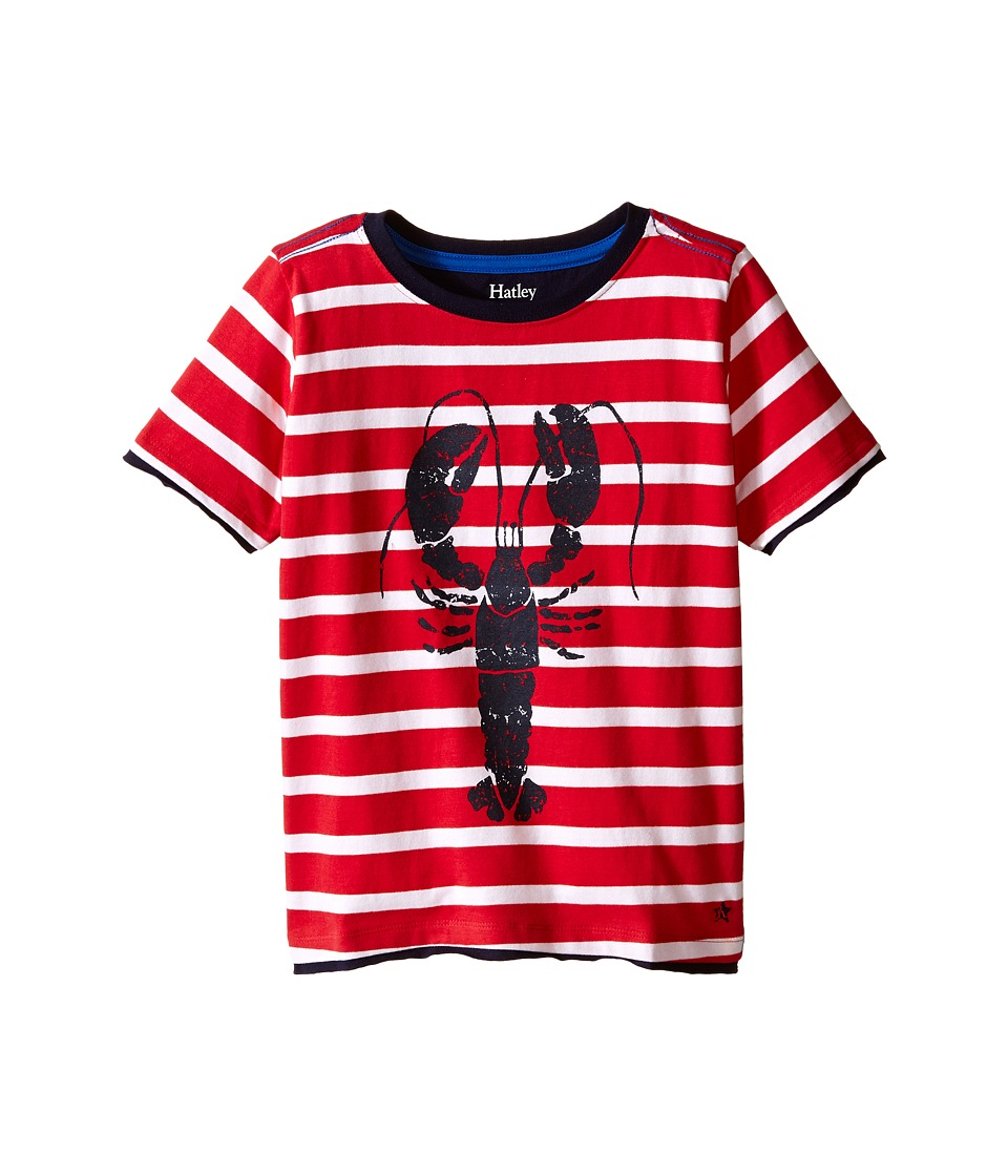 Hatley Kids - Lobster Graphic Tee (Toddler/Little Kids/Big Kids) (Red) Boy's T Shirt