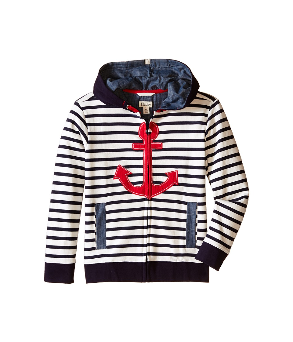 Hatley Kids - Retro Nautical Full Zip Hoodie (Toddler/Little Kids/Big Kids) (White) Boy's Sweatshirt